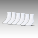 UA Charged Cotton® 2.0 Quarter Socks 6-Pack