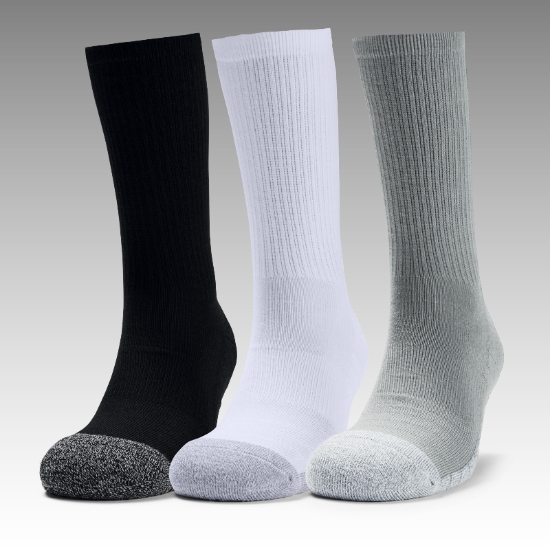 ponožky Under Armour UA Adult HeatGear® Crew Socks 3-Pack