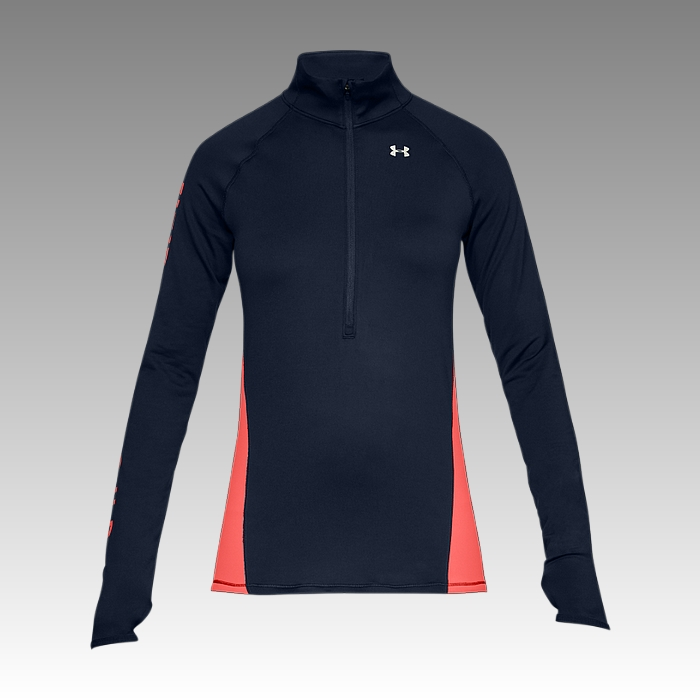 tričko Under Armour UA Women's ColdGear® Armour Graphic 1/2 Zip Long Sleeve Shirt