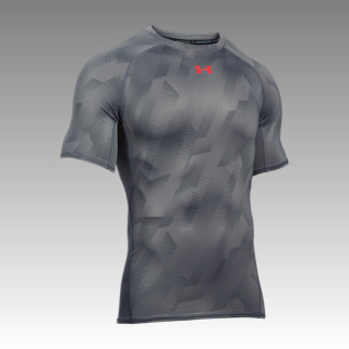 tričko Under Armour Heatgear Armour Compression Printed Short Sleeve