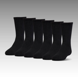 UA Charged Cotton 2.0 Crew Men's Sock 6-Pack