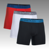"boxerky Under Armour Men's Charged Cotton® Stretch 6"" Boxerjock® 3-Pack"