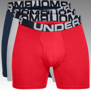 boxerky Under Armour UA Men's Charged Cotton® 15 cm Boxerjock® – 3-Pack