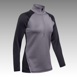 tričko UA Women's ColdGear® Armour 1/4 Zip Color Block