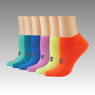 ponožky Under Armour UA Women's Solid No Show Socks 6-Pack