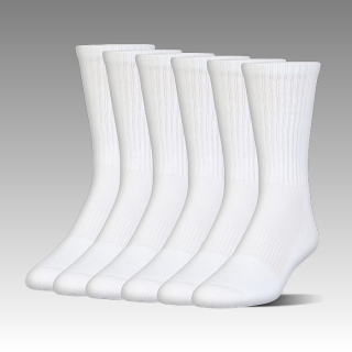 Charged Cotton® 2.0 Crew Sock – 6-Pack