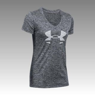 Women's UA Tech™ Graphic Twist V-Neck